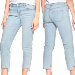 GAP Straight Crop Jeans in Light Indigo, Size 8/29